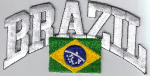 Brazil Embroidered Flag Patch, style 03.
